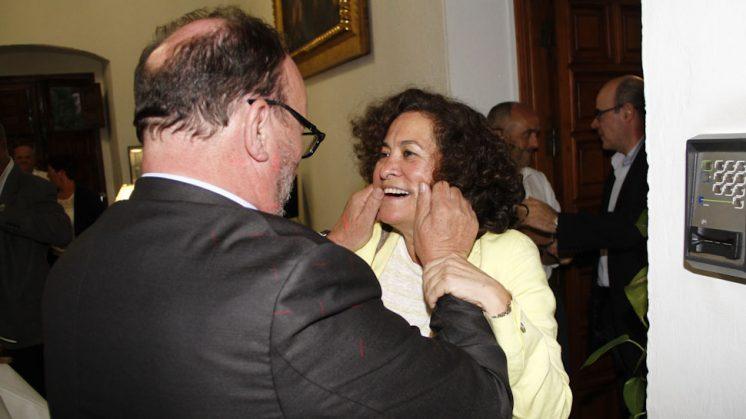 Pilara Aranda, el pasado jueves, tras ser elegida como rectora de la UGR. Foto: Álex Cámara