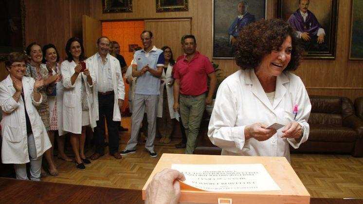 Aranda ha ejercido su derecho en la Facultad de Farmacia. Foto: Álex Cámara.