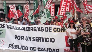 Masivo seguimiento en el cuarto día de movilización de trabajadores de Correo en Granada
