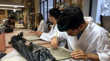 Alumnado de la Escuela de Arte de Sessa Aurunca realiza prácticas en Granada