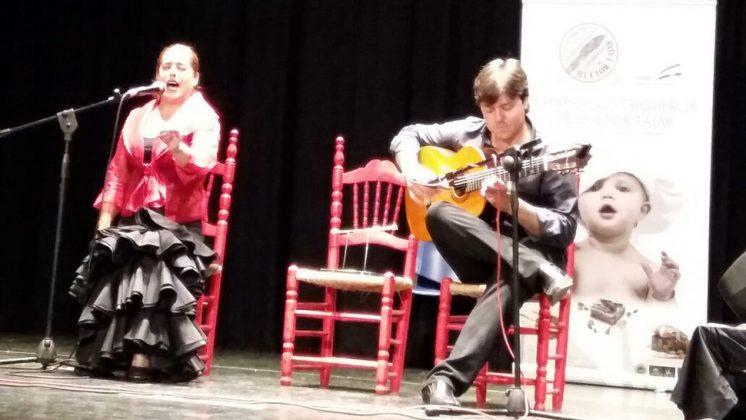 La cantaora malagueña, Rosi Campos, durante su actuación. Foto: aG