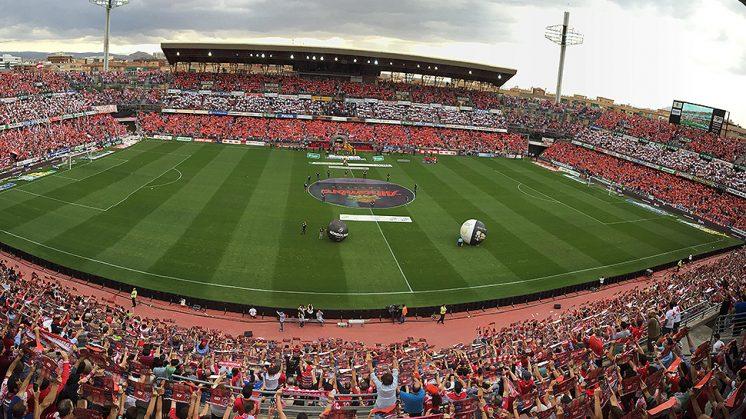 Estado que presentaba Los Cármenes en el partido ante el Atlético de Madrid. Foto: Luis F. Ruiz