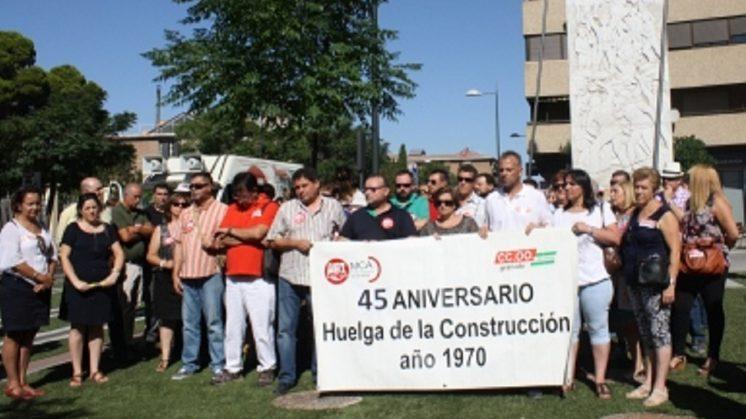 Rinden homenaje a los tres sindicalistas asesinados en la Huelga de la Construcción de 1970