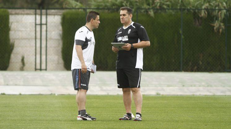 Sandoval durante uno de los entrenamientos del equipo. Foto: Álex Cámara