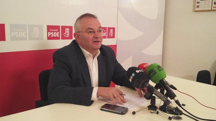 Rueda ha comparecido en la sede del PSOE. Foto: aG.