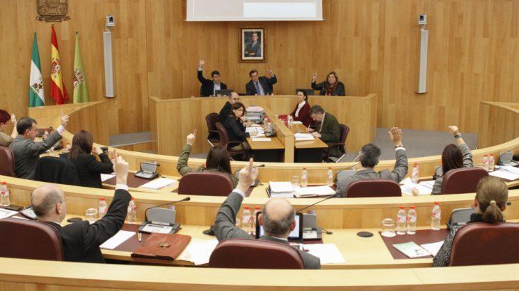 El pleno se ha celebrado este martes en la sede provincial. Foto: Álex Cámara