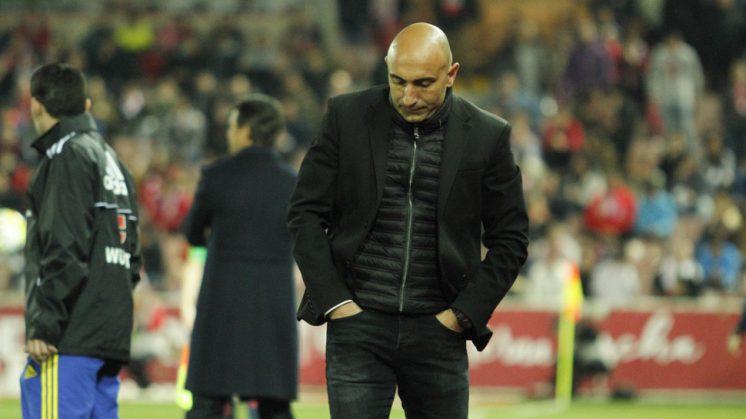 El entrenador del Sporting, que fue expulsado, se mostró muy duro en sala de prensa. Foto: Álex Cámara