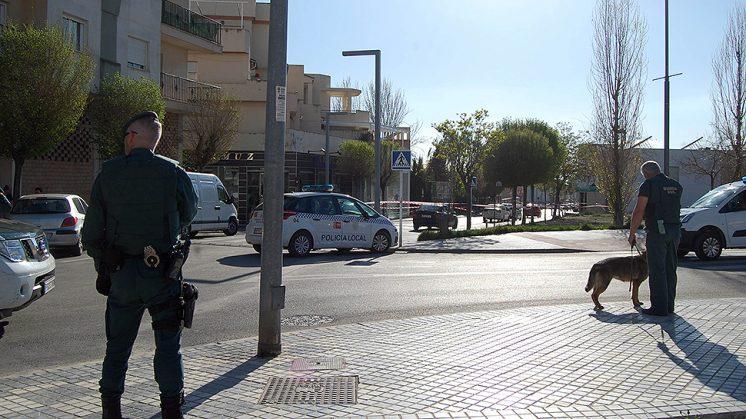 Los agentes de la Guardia Civil y la Policía Local, desplegados en la zona. Foto: Maracena.tv