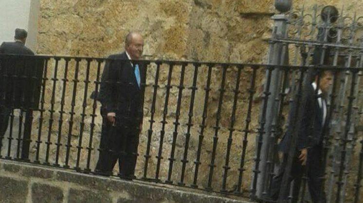 El Rey emérito, Juan Carlos I, estaba entre los invitados. Foto: aG