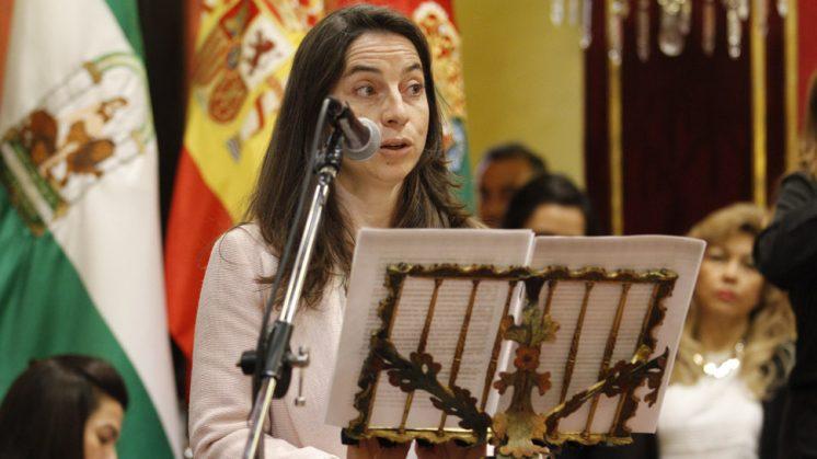 Marta Gutiérrez, durante su intervención en el pleno. Foto: Álex Cámara