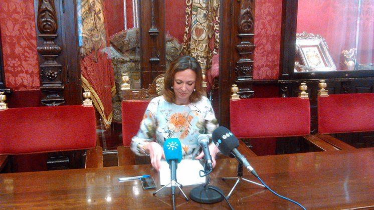 La 'popular' Rocío Díaz durante la rueda de prensa ofrecida este lunes. Foto: PP