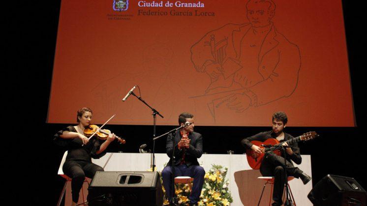 Juan Pinilla formó parte del acto de clausura. Foto: Álex Cámara