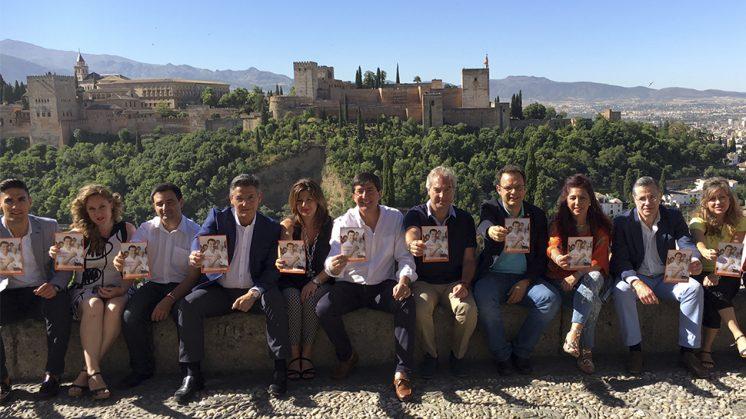 El presidente y portavoz del grupo de Ciudadanos en el Parlamento Andaluz, Juan Marín, ha visitado este miércoles Granada acompañado por el cabeza de lista al Congreso de la formación naranja por esta provincia, Luis Salvador. Foto: aG