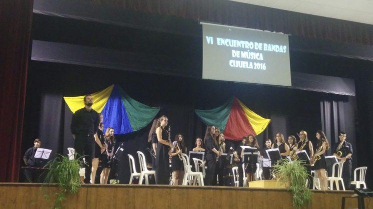 Una de las bandas participantes en el Encuentro de Bandas de Cijuela. Foto: aG