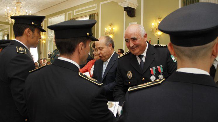 José Manuel Jiménez Avilés (en el centro), en una imagen de archivo. Foto: Álex Cámara