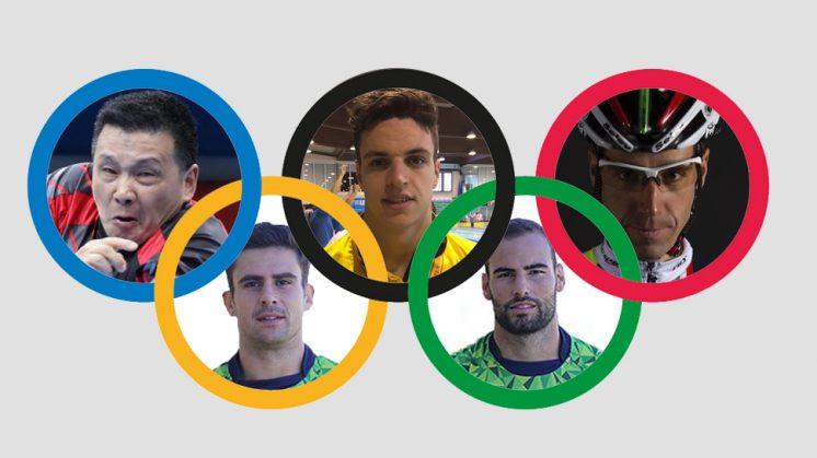 Los cinco granadinos que participarán en las pruebas deportivas. Fotomontaje: aG