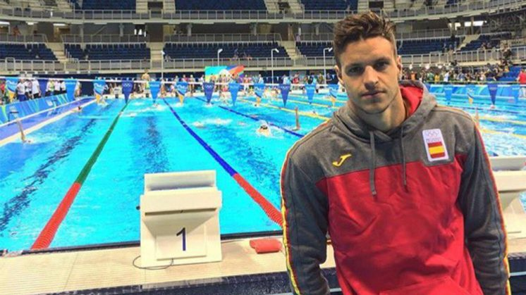 Víctor Martín se ha convertido en el primer nadador granadino que participa en unos Juegos Olímpicos. Foto: aG