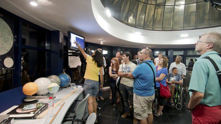 Técnicos del museo explicarán cómo observar las Perseidas en el Planetario y durante las Noches de Astronomía. Foto: Parque de las Ciencias