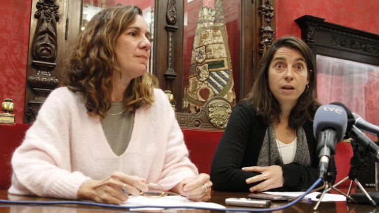 Pilar Rivas y Marta Gutiérrez en su comparecencia este martes. Foto: Álex Cámara