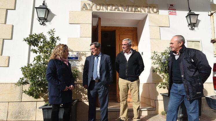 José Entrena ha visitado el municipio. Foto: Dipgra