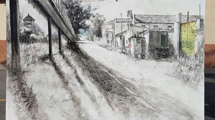 Obra ganadora del Certamen de Pintura Rápida de Cijuela. Foto: aG