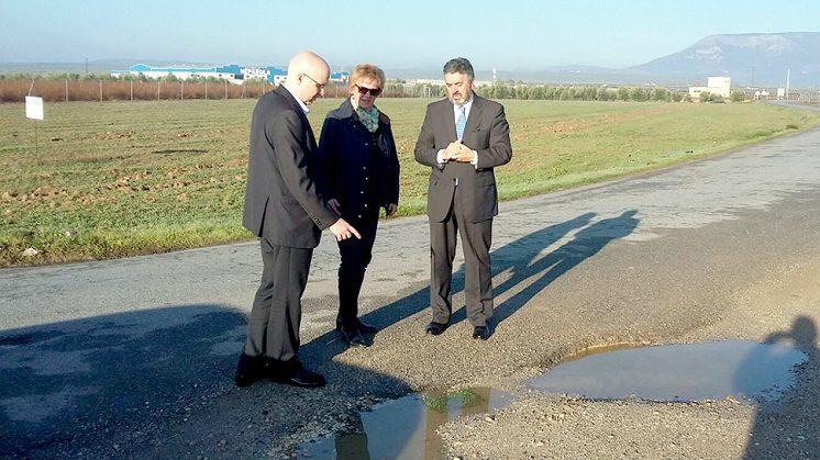 Diputados y la portavoz de Ciudadanos en Valderrubio han visitado la zona. Foto: C's