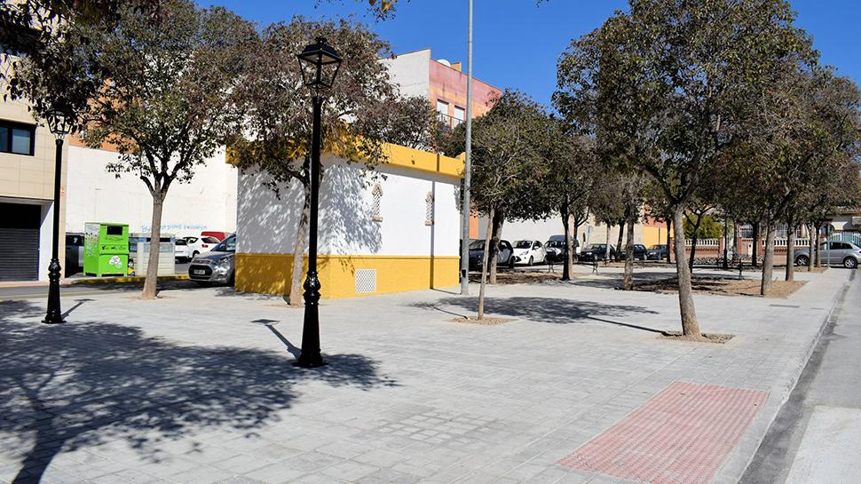Ahora granada albolote culmina las obras de la calle for Calle jardin de la reina granada