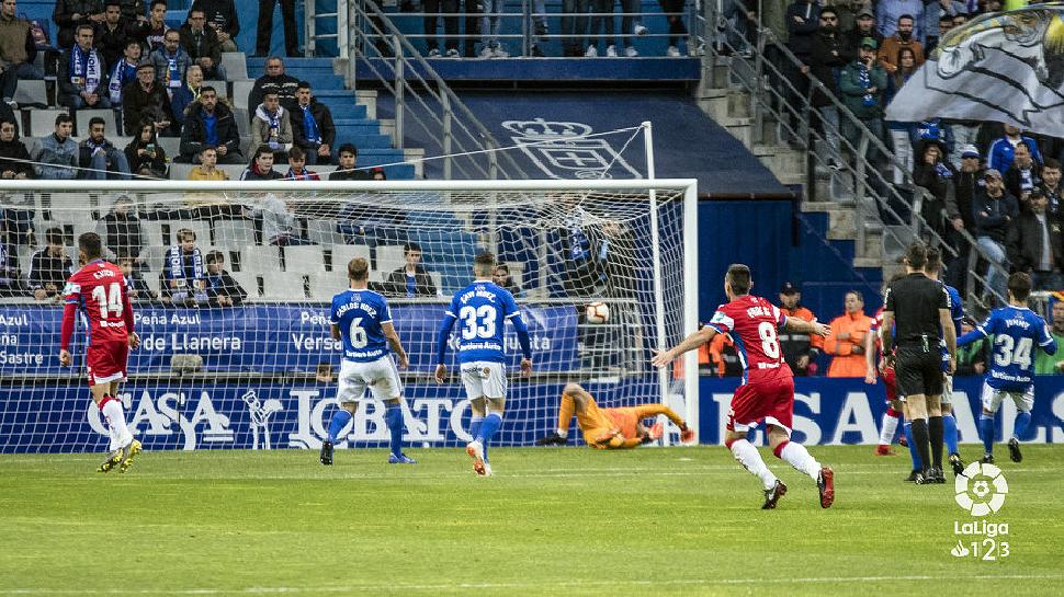 b7e291bb83 Fede Vico logra el tanto del Granada CF en Oviedo. Foto: La Liga 123